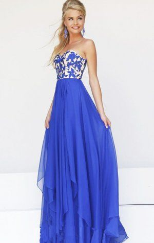 40e3cbe7765 Blue Long Sparkly Top Layered Prom Dress Sale
