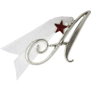 Initial Ornament with Star Charm