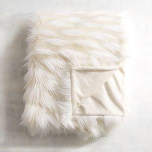 Faux Fur Eyelash Ivory Throw | Pier 1 Imports