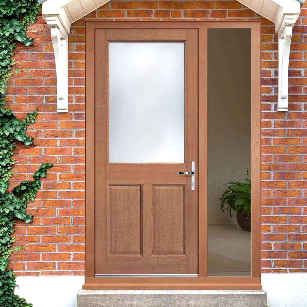 The 2xg Exterior Hardwood Door And Frame Kit With One Unglazed