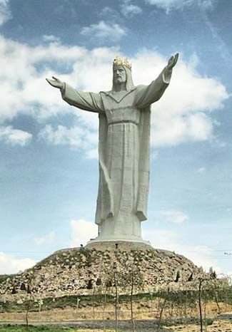 The Christ the King statue in Poland stands 170 feet tall, including its base.