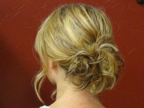 Updo For Shoulder Length Hair Youtube Medium Length Hair Styles Medium Hair Styles Updos For Medium Length Hair