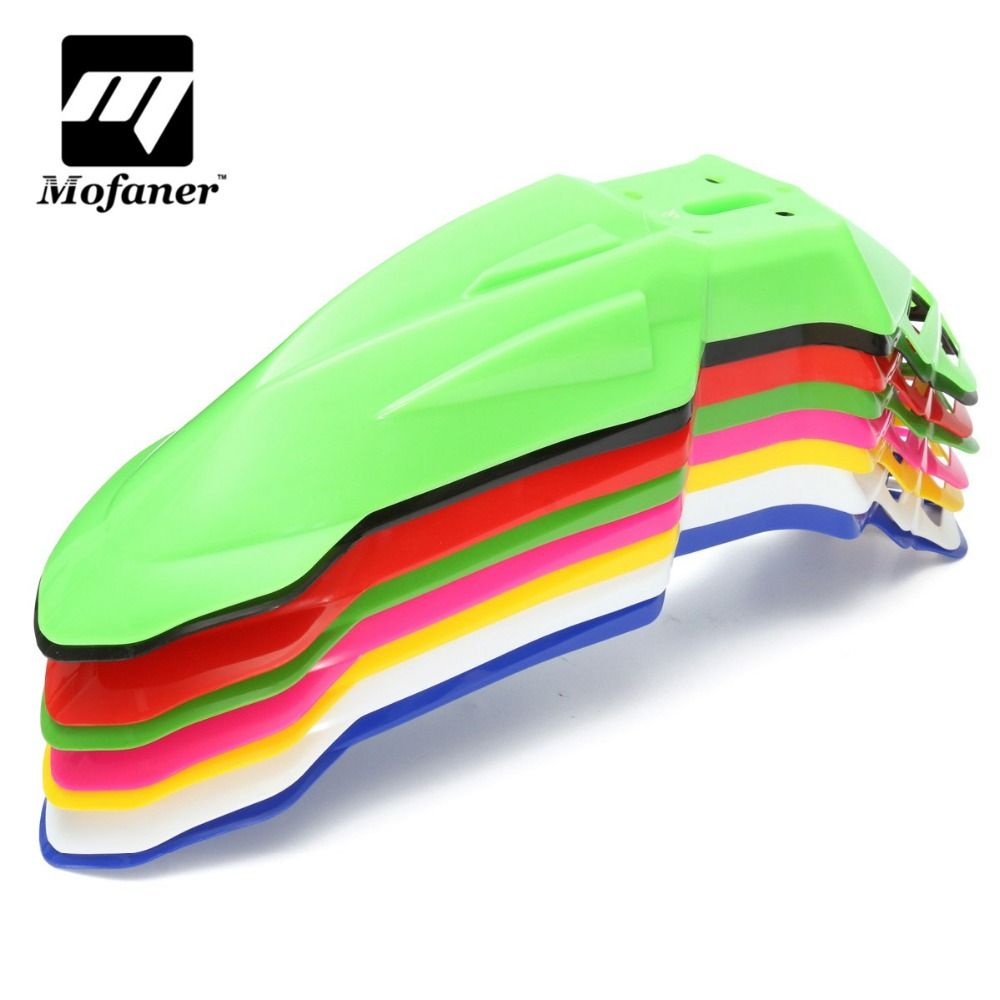 promo 8 colors abs plastic universal plastic motorcycle front mud ...