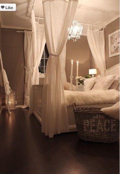 slaapkamer romantisch... | Ideeën voor het huis | Pinterest