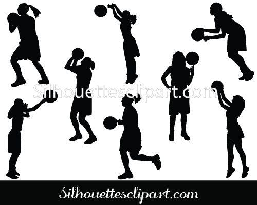 Girl Playing Basketball Vector Graphics