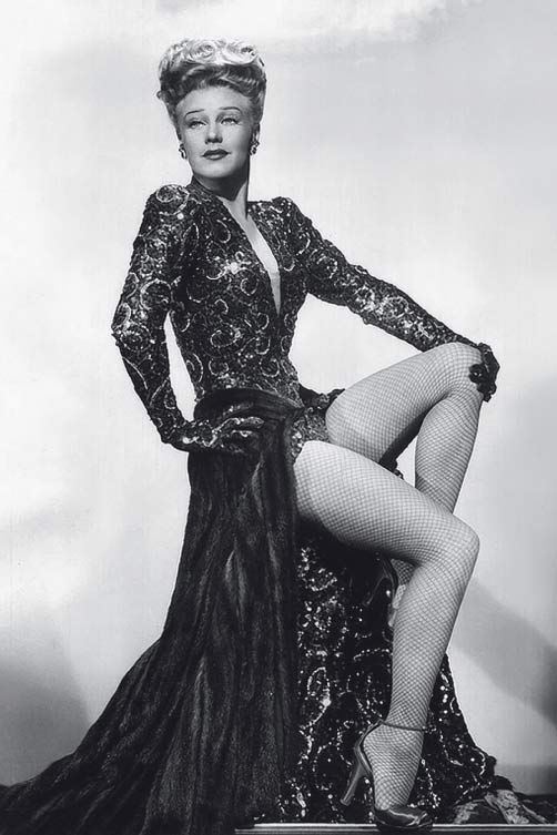 Ginger Rogers wearing one of the most expensive gowns every designed in Hollywood, by Edith Head. Mink overskirt, underskirt encrusted with jewels, amazing!