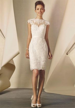 Short chic this alfred angelo lace dress with key hole back is short chic this alfred angelo lace dress with key hole back is absolutely stunning for a wedding reception dress perfect to dance the night away at junglespirit Image collections