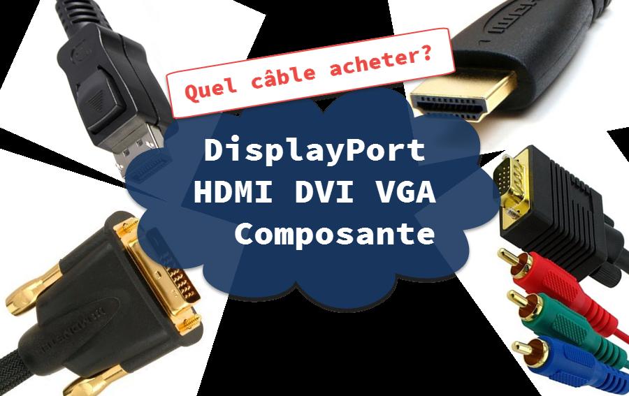DisplayPort. HDMI. VGA. DVI et Composante | Informatique. Blogue