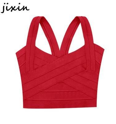 93525f3c833 Womens Tops Fashion y Red Black White Bandage Crop Top Bustier Cami Sport  Bandage Tops Free Size Alternative Measures