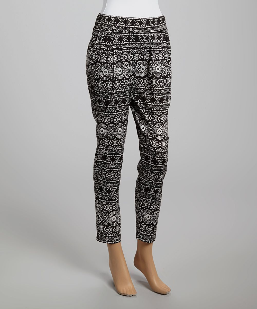Black & White Medallion Pants