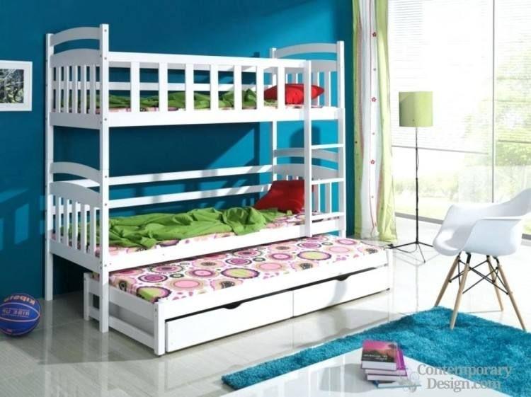 Double Deck Bedroom Ideas   Cool bunk beds, Bunk bed