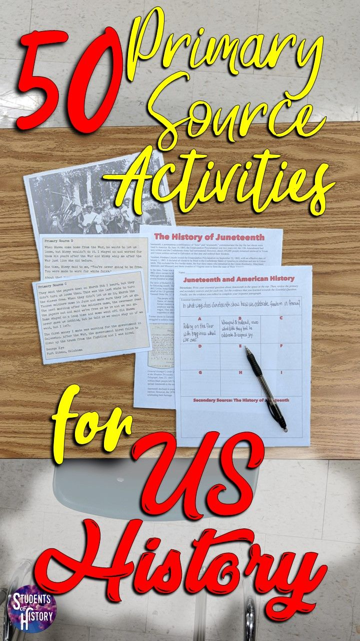 Photo of 50 Awesome Primary Source Lessons for American History