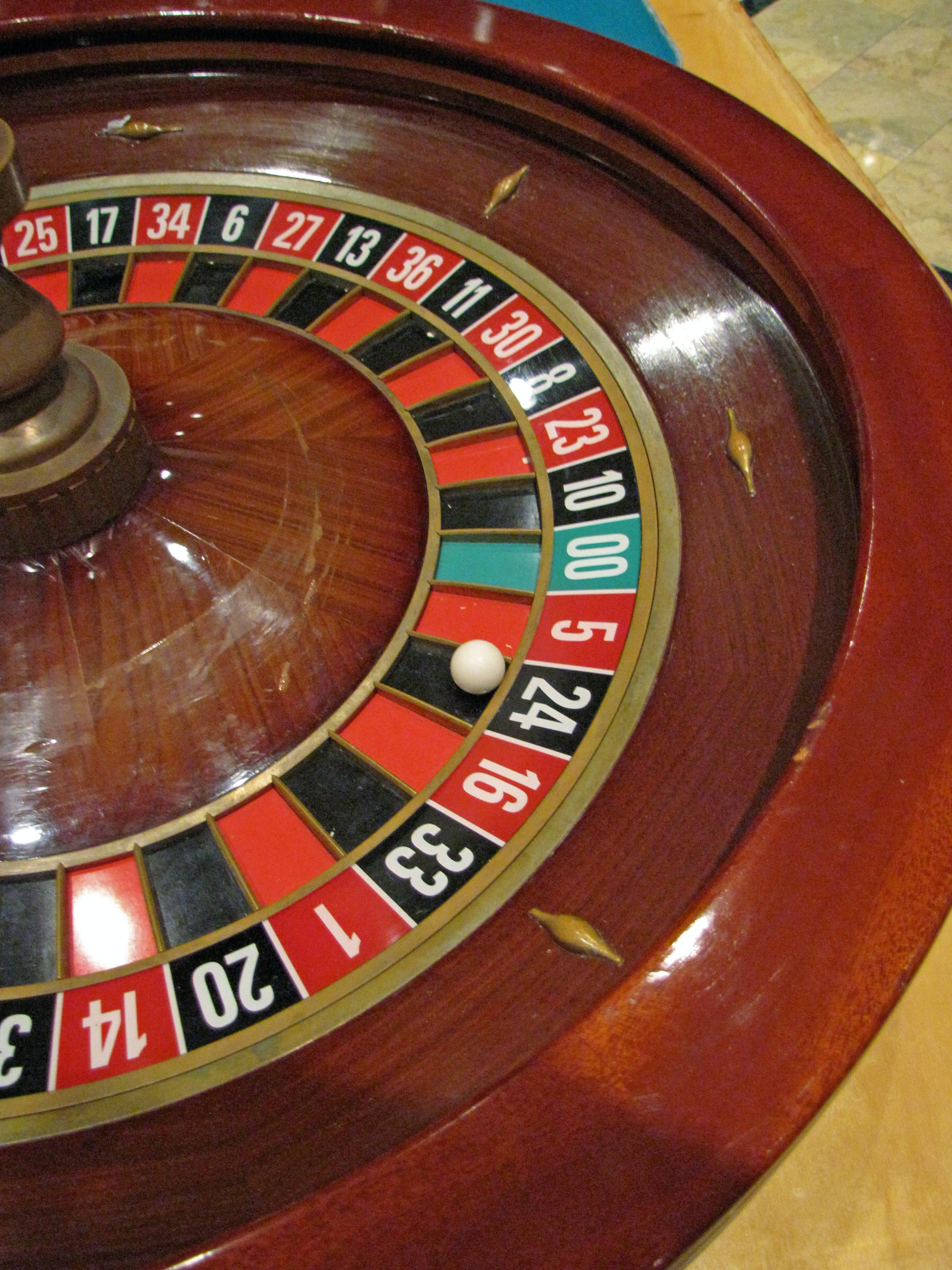 Roulette Wheel (close up) used for Casino Night / Las