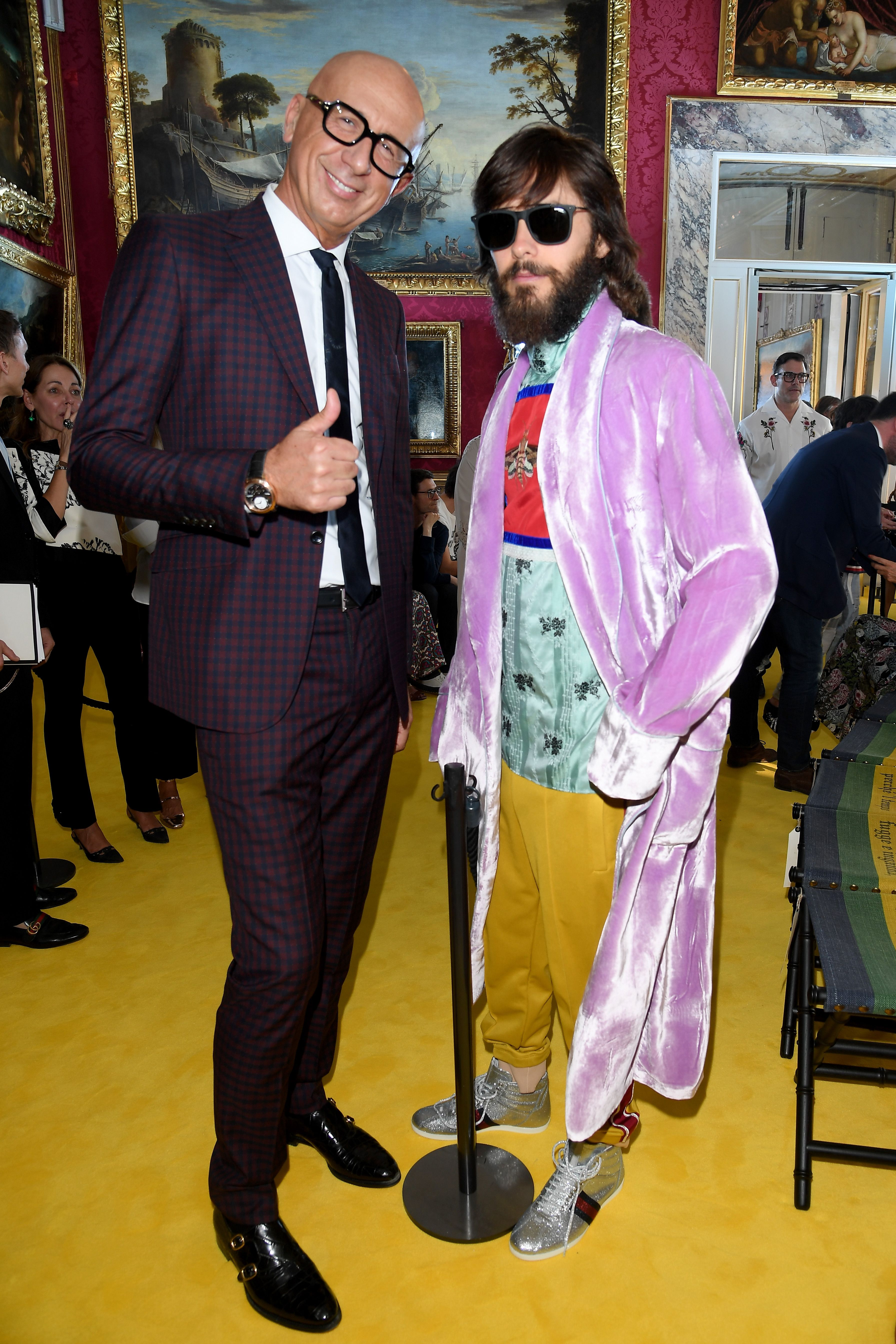 Gucci CEO Marco Bizzarri together with Jared Leto inside the Gucci ...