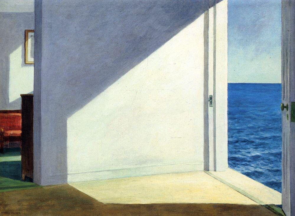 """""""Solo quiero pintar la luz del sol sobre el lateral de las casas"""" E. Hopper"""