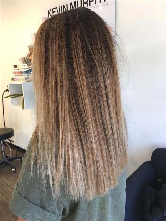 balayage hair brunette; blonde balayage hair; dark and straight balayage hairsty... #balayage