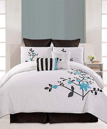 Look at this #zulilyfind! Blue Pinecrest Eight-Piece Comforter Set #zulilyfinds