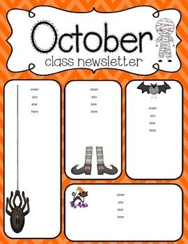 5410fb284a5e82efb73a806f88fe3286 October Newsletter Daycare Template on printable downloadable, free downloadable preschool,