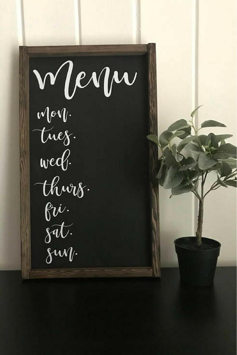 Menu Board Rustic Weekly Chalkboard Ad