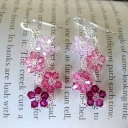 @Overstock - Every woman can feel beautiful wearing these crystal flower earrings. These homemade earrings feature sterling silver round hooks, together with Swarovski crystals and seed beads in a variety of hues. They are sure to bring a smile to every woman.http://www.overstock.com/Main-Street-Revolution/Sterling-Silver-Colorful-Crystal-Flower-Earrings-USA/5303495/product.html?CID=214117 $18.49