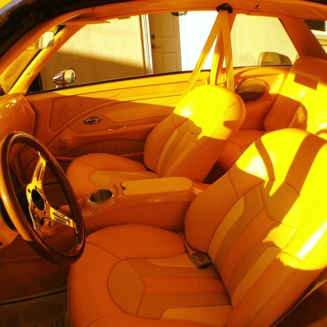 G body chevy malibu canary yellow interior custom | Auto Addiction