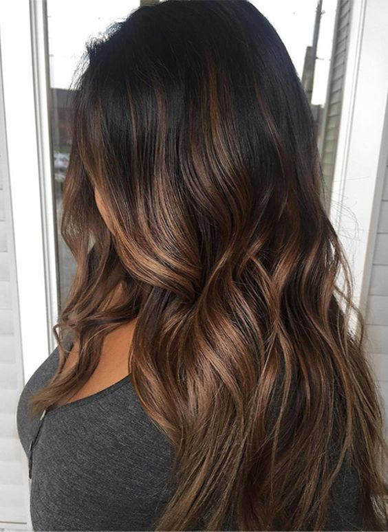 perfect brunette ombre hair color