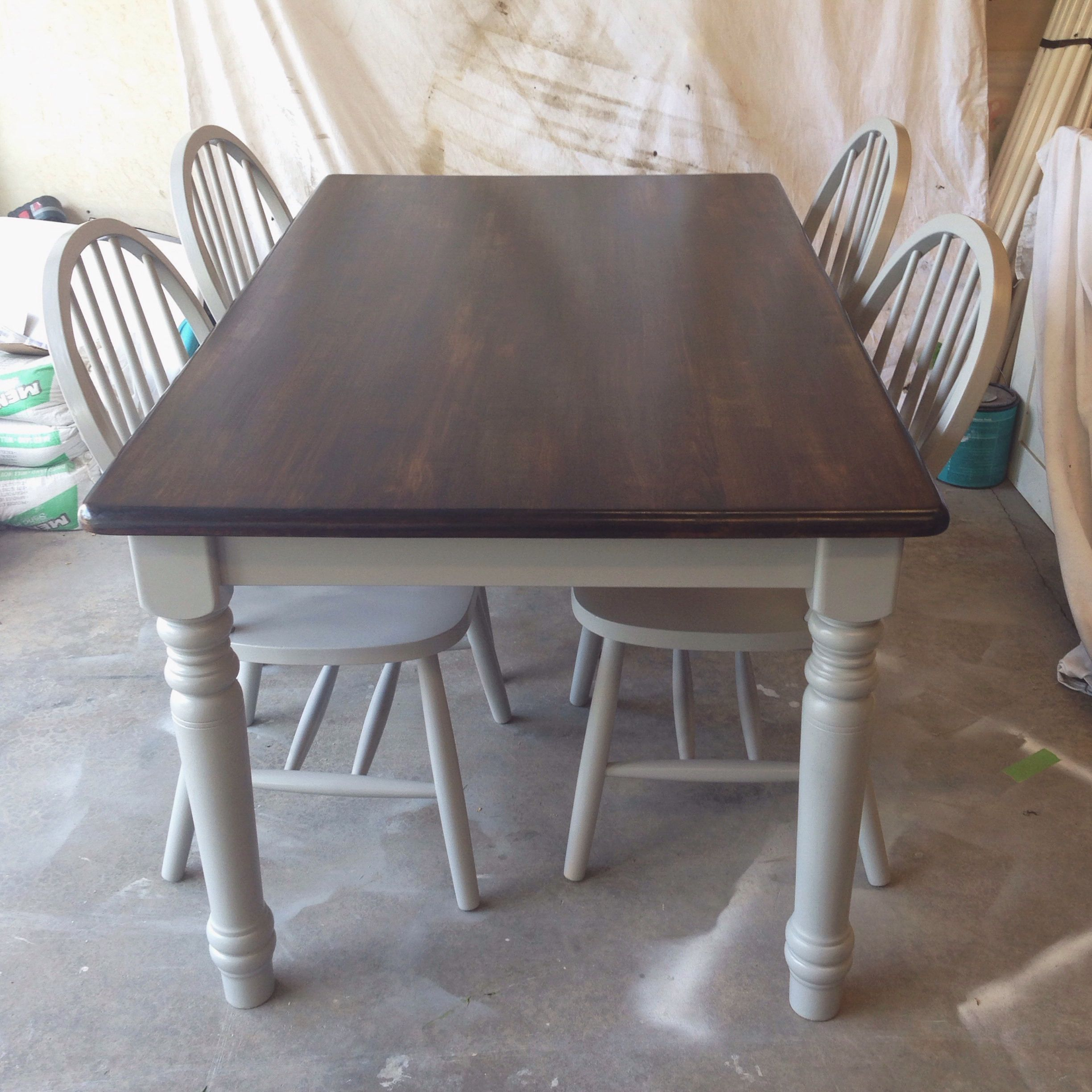 Painted With Rustoleum Spray Paint Stone Gray Minwax Stain Dark Walnut