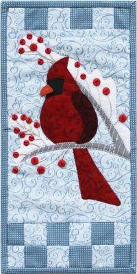 Winter Cardinals Tile Unframed