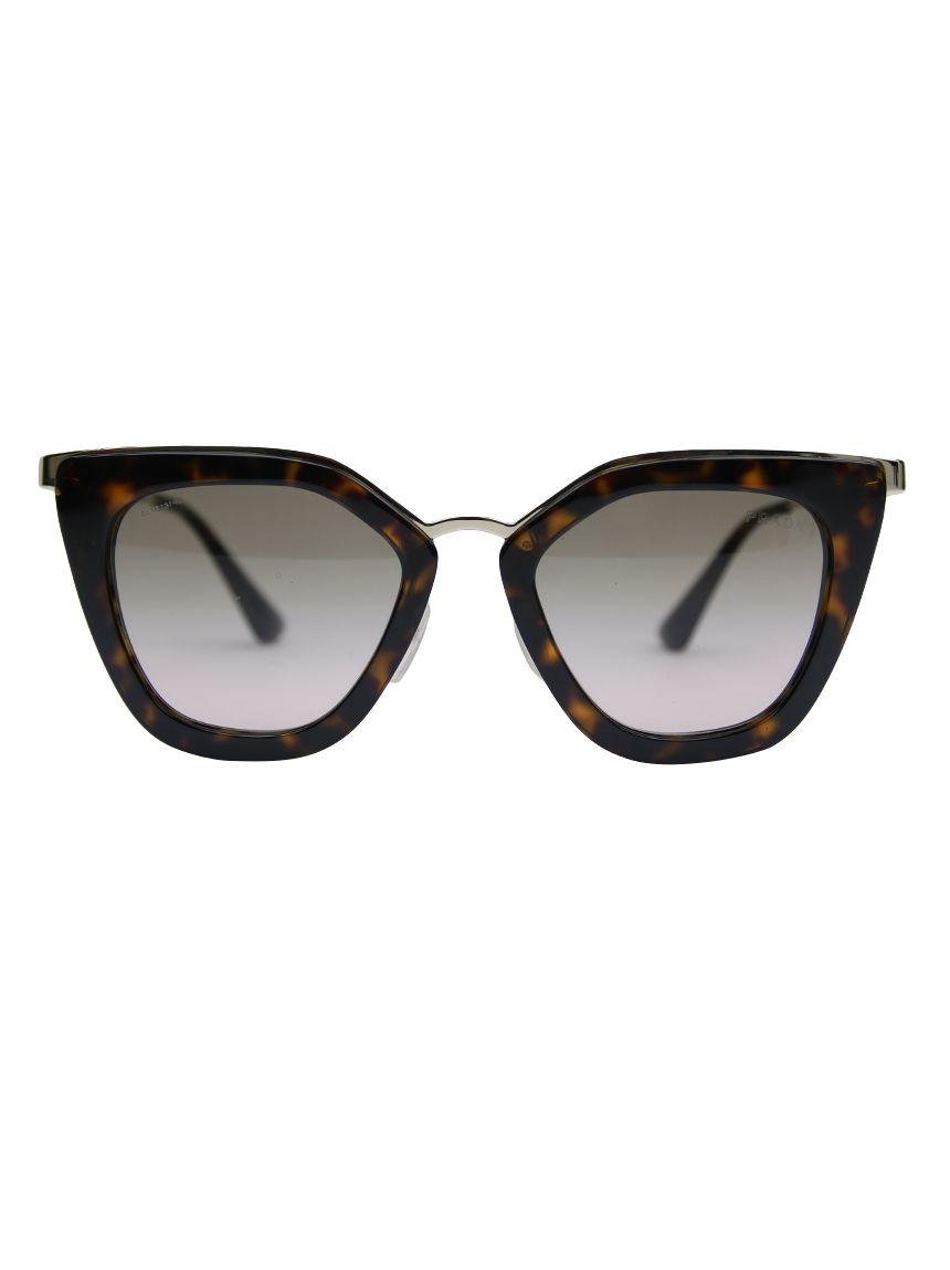 ee59693a2a537 Óculos Prada Preto SPR 53S Original confeccionado em acetato tartaruga. O  modelo possui modelagem gatinho