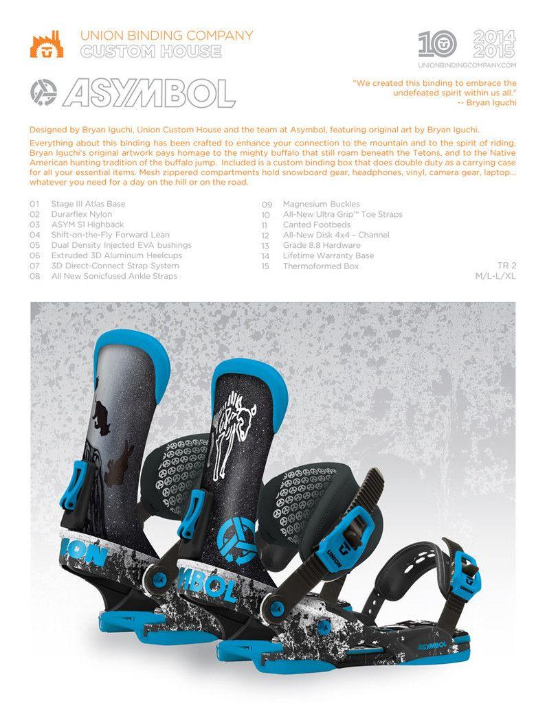 Union Custom House Asymbol bindings TR2 black / blue