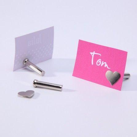 Tischkartenhalter-Set magnetisch (6 Stück)