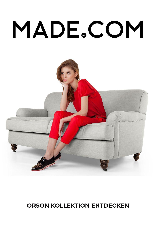 Orson 2-Sitzer Sofa, Parisgrau
