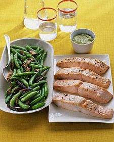Salmon with Herbed Mustard Sauce - Whole Living Eat Well