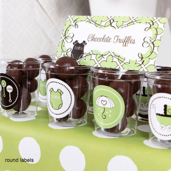Green baby shower party kit