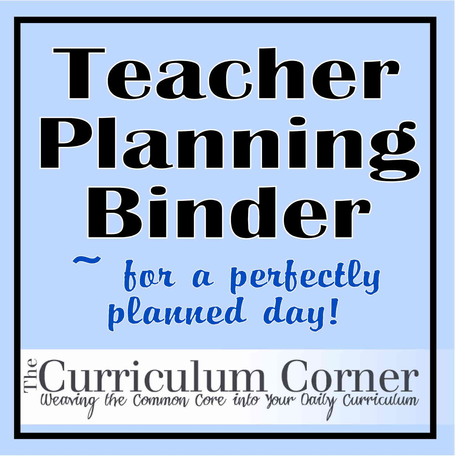 Free printables - EVERYTHING you need for a teacher planning binder