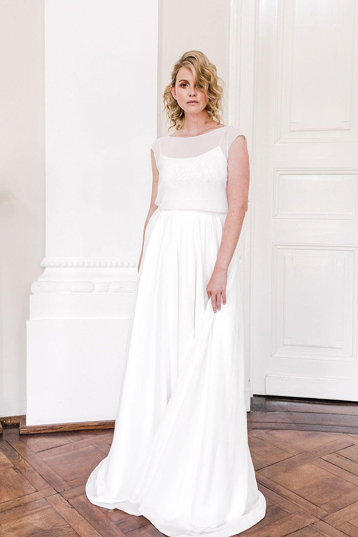 Nachhaltige Brautkleider von Sina Fischer  Rückenfreie