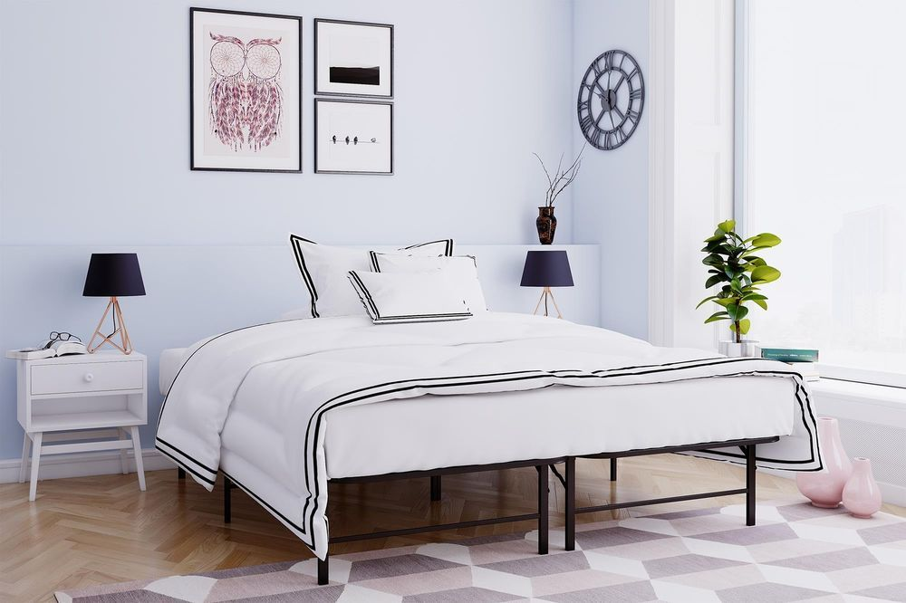 Details about Adjustable Sturdy Metal Platform Bed Frame/foundation