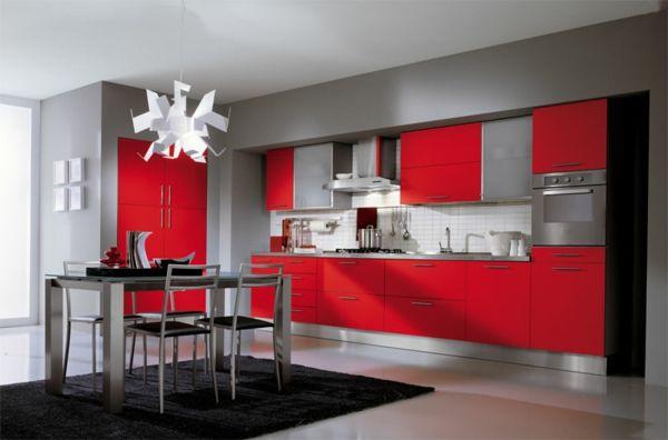 Erkunde Wohnen, Rote Küche Und Noch Mehr! Küchengestaltung Schrankküche  Küchenregale Küchen Wandregal