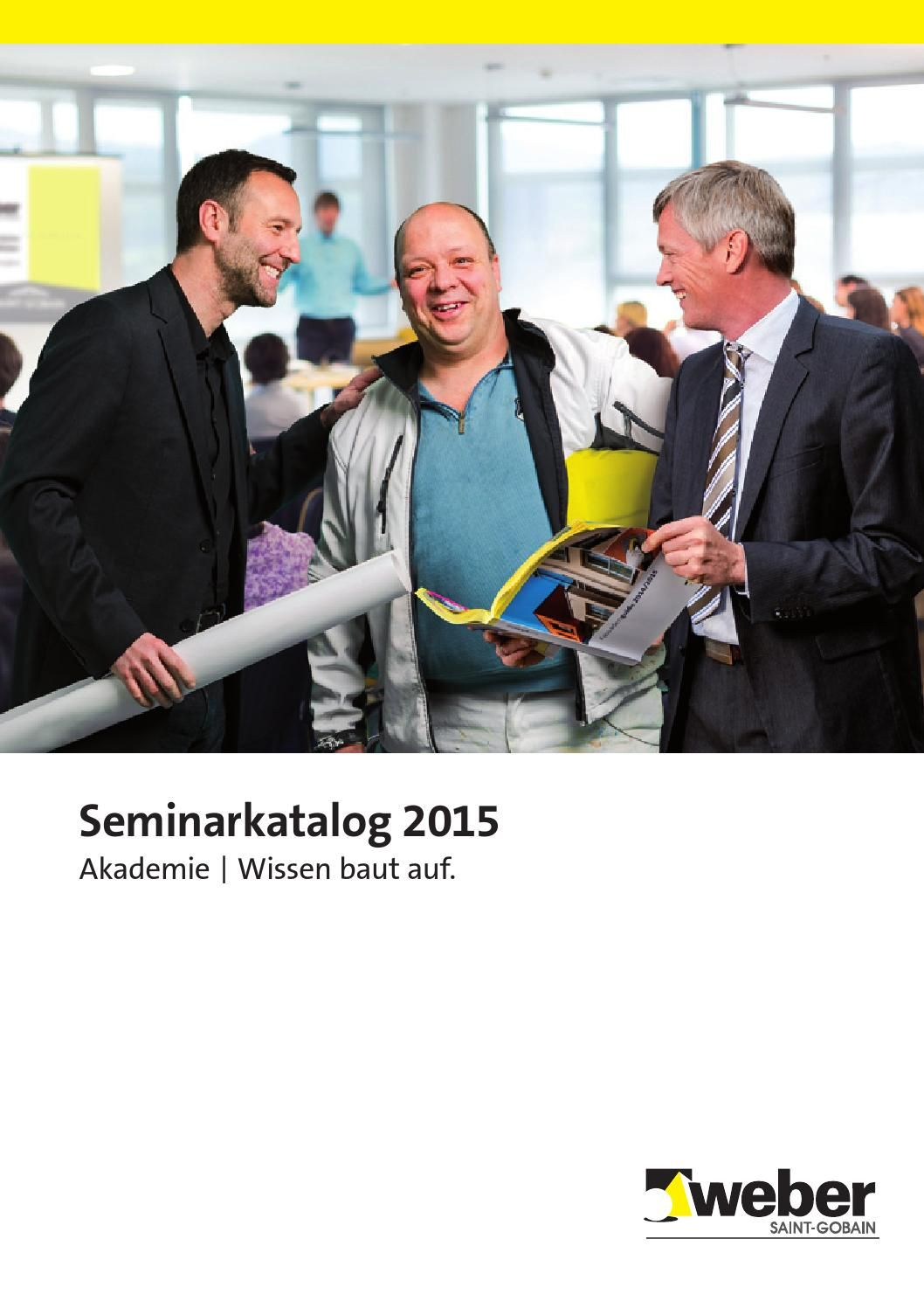 Seminarkatalog 2015, #Akademie, #SGWeber, #Saint-Gobain, #Weber