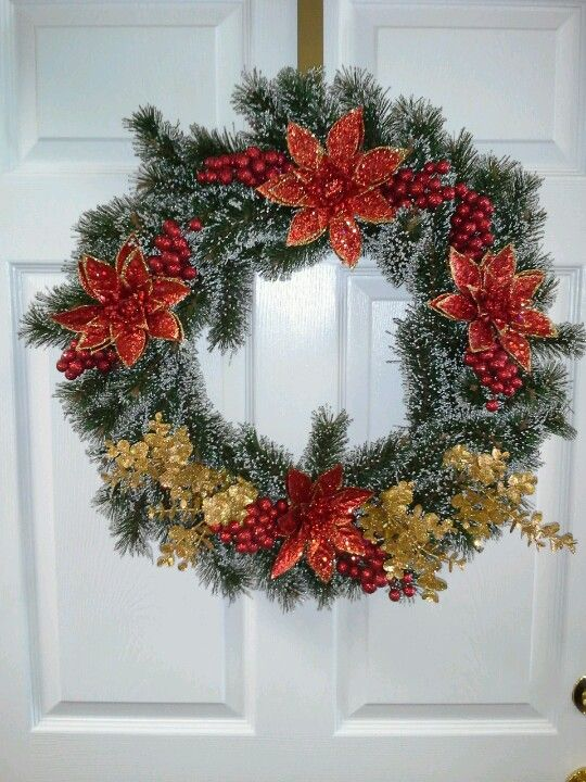 Christmas wreath My Crafts Pinterest Wreaths, Christmas