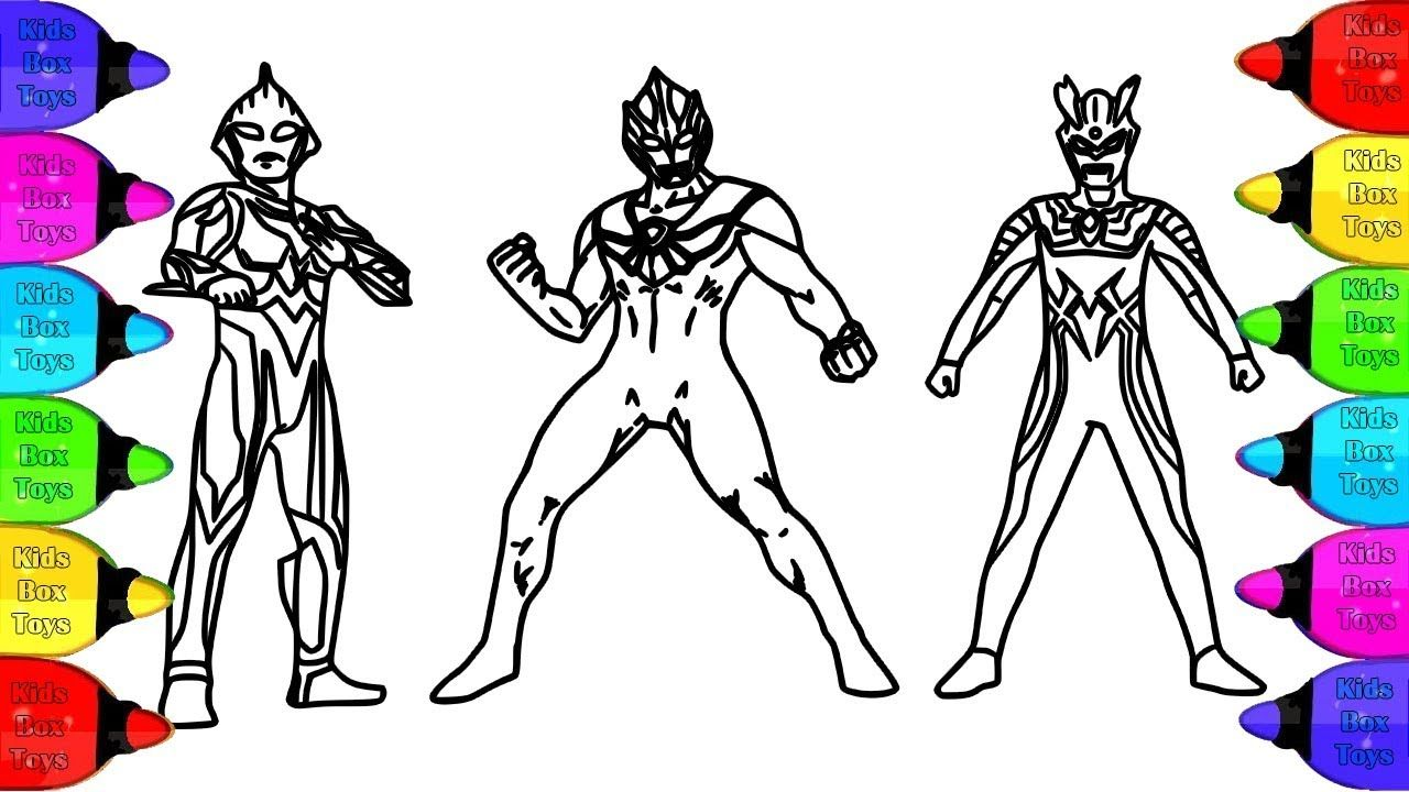 Ultraman Nexus Ultraman Tiga Ultraman Zero Coloring Pages