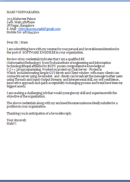 Cover Letter For Cv Excellent Job Application Cover Letter  Email