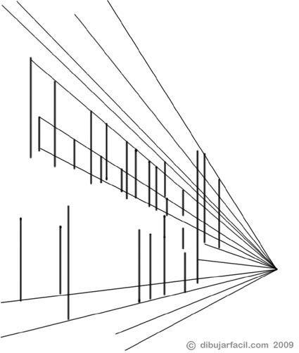 Dibujar Facil Perspectiva Punto De Fuga Ejercicio Punto De Fuga Dibujos De Edificios Como Dibujar En Perspectiva