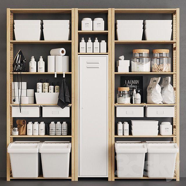 3d models: Bathroom accessories - Ivar Monotone Pa... -