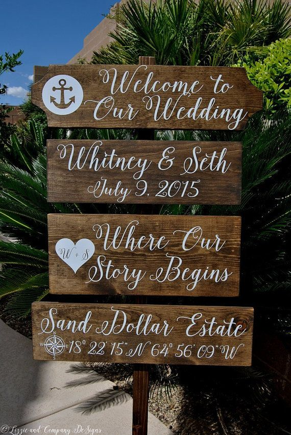 Welcome Wedding Sign Large Custom Beach Sign Directional Etsy Beach Wedding Signs Wedding Signs Beach Wedding