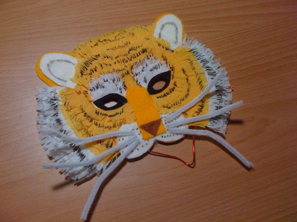 Jungle themed paper plate tiger mask & Jungle themed paper plate tiger mask | Craft crafts! | Pinterest ...