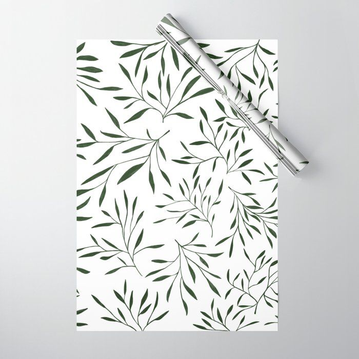 Dark Green Forest _ Single Green Wrapping Paper
