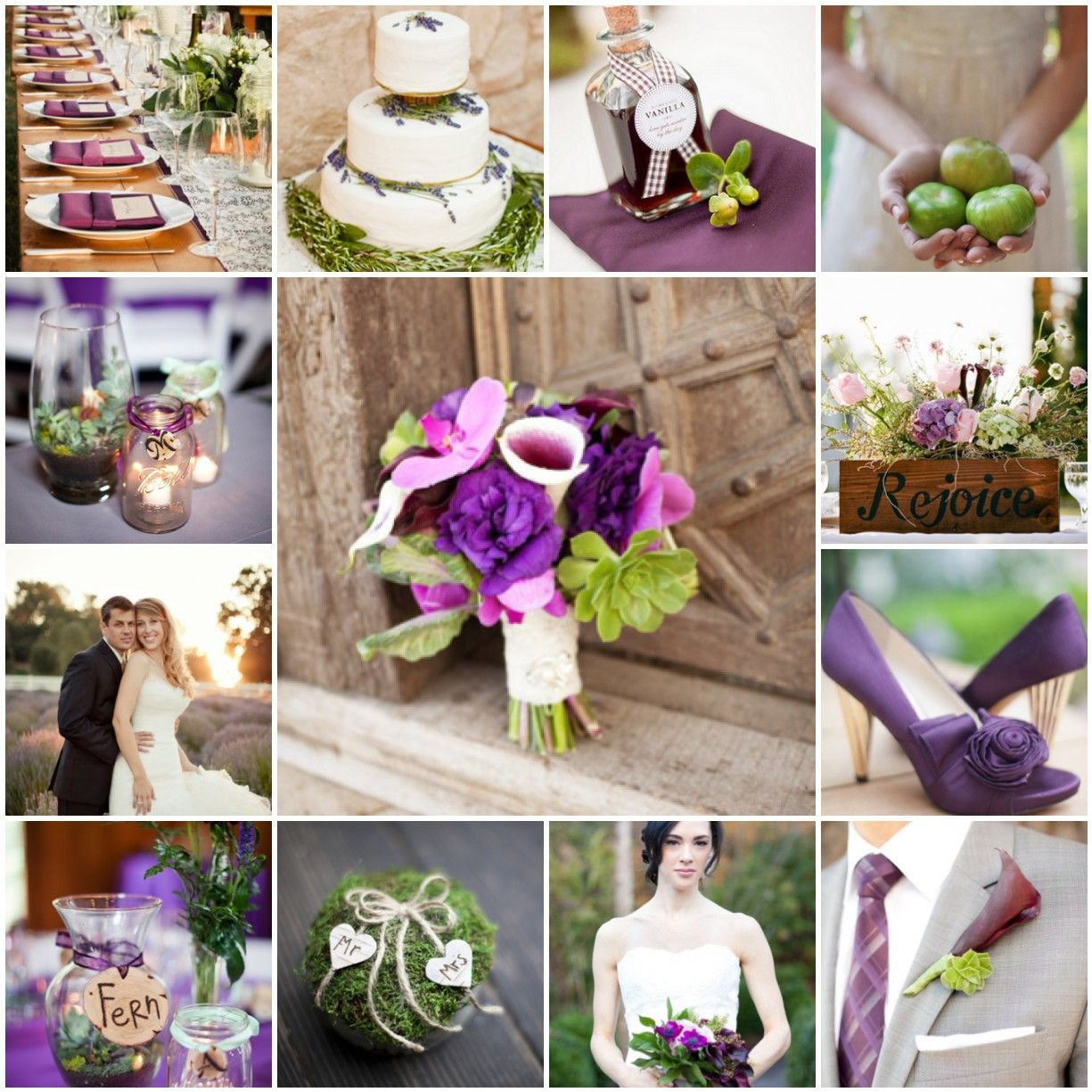 Purple And Green Rustic Wedding Purple And Green Wedding Green