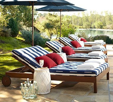 Chatham Double Chaise Amp Cushion Pottery Barn Outdoor Furniture Outdoor Furniture Sets Modern Patio Furniture