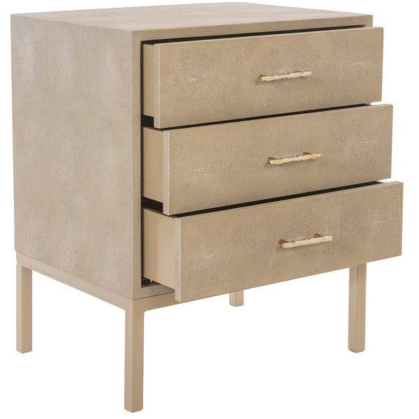 Best Shagreen 3 Drawer Accent Chest Safavieh Furniture 400 x 300